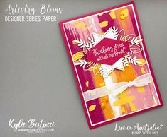 I mentioned in my post yesterday that I got to do a video for the offical Stampin' Up!® Demonstrator Facebook Page that has over 36,000 members.  I was asked to highlight the Stampin' Up!® Designer Series Paper as there is a 15% off sale some of the papers this month! Check the all out HERE.  Here are some simple cards I made using the Designer Series Paper as well as some stepped up versions.