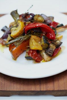 Have some fun with all the veggies you have left in your garden or in fridge. Make sure your oven is super hot and you'll have a delicious dish to serve with a roast or any main dish. The recipe serves 10 so you'll have leftovers for the next day.