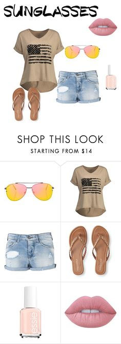 """Sunglasses (contest)"" by people-are-annoying ❤ liked on Polyvore featuring Topshop, Armani Jeans, Aéropostale and Lime Crime"