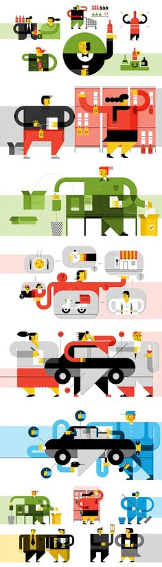 Illustrations by Romualdo Faura for LittleCrowd (France)