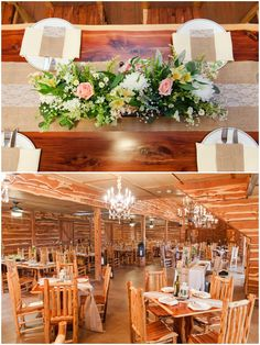 Burlap and Lace wedding with pink and yellow flowers inside Barn reception at Twisted Ranch Wedding in Texas Hill Country