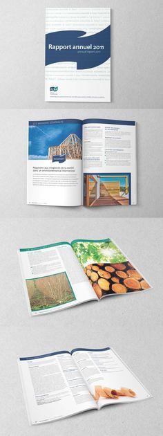 FCBA | Réalisation graphique à partir d'une maquette existante pour Agence Mixte - Arras | Rapport annuel