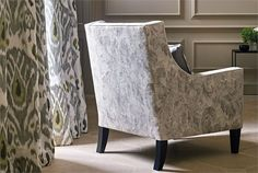 Zoffany Winterbourne Prints and Embroideries Collection - Kashi Pietra Damask
