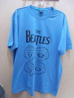 Camiseta The Beatles Play Mobile Cor: Azul 100% algodão Tamanho: G R$ 39,00  www.elo7.com.br/dixiearte