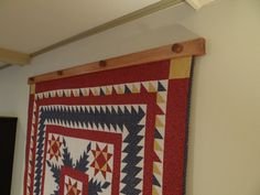 "Compression Quilt Or Tapestry Hanger - Large 43""- 48"""