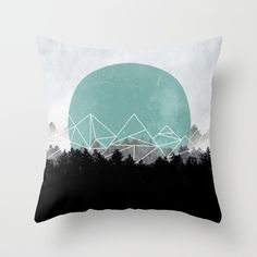 Woods Abstract 2 Throw Pillow