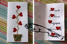 cartes fête des mères made by Mamzelle Valentine Crafts, Valentine Day Cards, Valentines, Diy For Kids, Crafts For Kids, Mather Day, Happy Birthday Mom, Birthday Gifts, Fathers Day Crafts