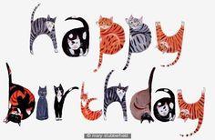 Happy birthday cats - Happy Birthday Funny - Funny Birthday meme - - Happy birthday cats The post Happy birthday cats appeared first on Gag Dad. Happy Birthday Cat Images, Birthday Wishes Funny, Happy Birthday Quotes, Cat Birthday, Happy Birthday Greetings, Birthday Love, Humor Birthday, Sister Birthday, Birthday Messages