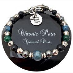 Chronic Pain Relief Healing Crystal Reiki Gemstone Adjustable Bracelet
