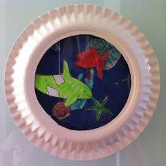 Akvárium z papírového talíře