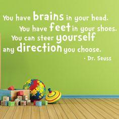 Dr Seuss Wall Decal, 0093 Dr Seuss Quotes, Dr Seuss Wall Art, Dr ...