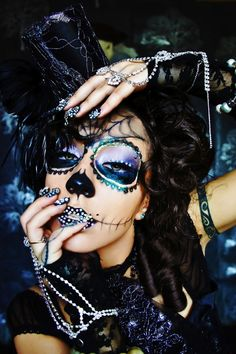 day of the dead Makeup halloween makeup dia de los muertos makeup skull makeup