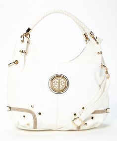 Look at this #zulilyfind! White Lori Hobo by MKF Collection #zulilyfinds