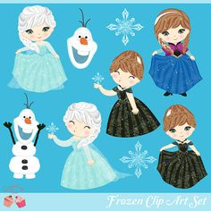 Frozen Clipart Set by 1EverythingNice on Etsy, $5.00--Magnetic ideas