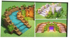 Minecraft Villa, Minecraft Kunst, Minecraft Mansion, Minecraft Structures, Easy Minecraft Houses, Minecraft Plans, Minecraft Room, Amazing Minecraft, Minecraft House Designs