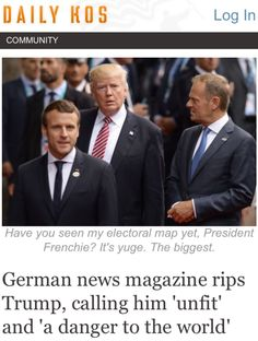Everyone, Everywhere All Over The World Now Knows Without A Doubt What A Complete Ass Trump Is.