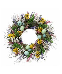 Look what I found on #zulily! Wild Robin's Egg Wreath #zulilyfinds