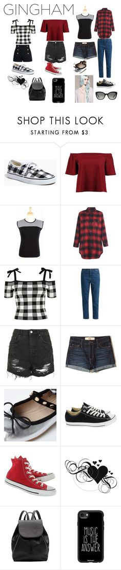 """""""Warped Tour"""" by flowercrownsandsunglasses ❤ liked on Polyvore featuring Madewell, Boohoo, River Island, Miu Miu, Topshop, Hollister Co., Converse, Witchery, Casetify and Burberry"""