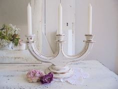 Candle holder  Shabby Chic