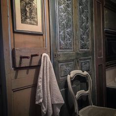 Bathroom with Coco and Louis Blue and Classical Bird stencil