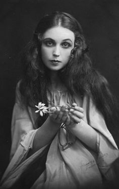 Actress Inga Tidblad (1901-1975) as Ophelia in Hamlet.