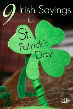 Love #7! 9 Irish Sayings for St. Patrick's Day http://thestir.cafemom.com/in_the_news/169685/9_irish_toasts_to_raise?utm_medium=sm&utm_source=pinterest&utm_content=thestir&newsletter