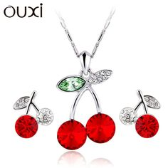 Cherry Jewelry Sets//Online Shopping at a cheapest price for Automotive, Phones & Accessories…