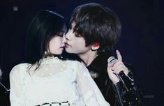 """"""" The kiss of the devil """" Intense enough? Or do you guys want more? 😉 A lot of you voted for sexy/on stage so here it is😊 A little tease… Bts Twice, Jungkook Fanart, Jungkook Funny, Bts Girl, Kpop Couples, Korean Couple, Blackpink And Bts, Jennie Blackpink, Foto Bts"""