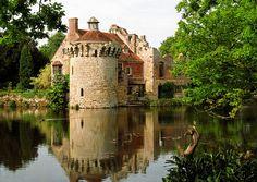Scotney Castle Landscape Gardens, Kent, UK | Tranquil reflection of castle ruins in lake (14 of 16), via Flickr.