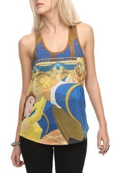 Amazon.com: Disney Beauty And The Beast Girls Tank Top: Clothing