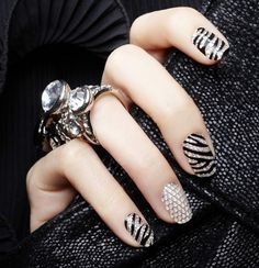 Crystal nail stickers - Nail designs 2013 #nail designs