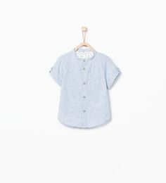 ZARA - KIDS - Mao collar shirt