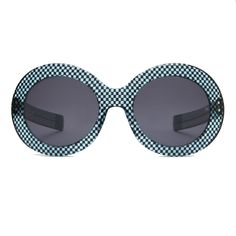 Koko (1966) in Liquorice Chesscboard - Oliver Goldsmith Sunglasses - #olivergoldsmith #sunglasses #koko #liquorice
