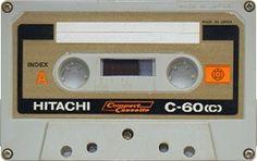 HITACHI C-60 Tapas, Magnetic Tape, Mixtape, Compact, Catalog, Audio, Cassette Tape, Culture, Electronics