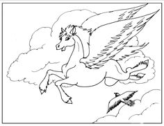 This Pegasus Flying With The Birds