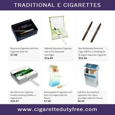 Traditional E Cigarettes - http://www.cigarettedutyfree.com/english/e-cigarettes/traditional-e-cigarettes.html