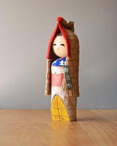 Vintage Japanese Yukinko Kokeshi Doll