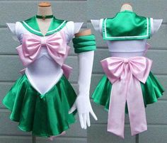 Sailor Moon Jupiter cosplay costume Sailor Moon Lita dress up fancy dress halloween costume christmas xmas gift valentine's day gift for girls women