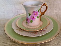 Vintage mismatched place setting by Luv2manythings on Etsy,