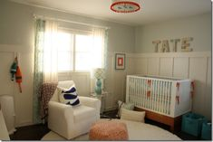 Cute baby room, and it even says Tate! ;)