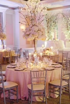 Winter ballroom wedding Planning by TOAST events Photos by Jeremy Harwell Decor by Edge Design Group