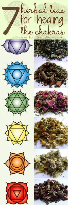 7 Herbal Chakra Healing Teas by Earth Energy Healings. Beautiful!