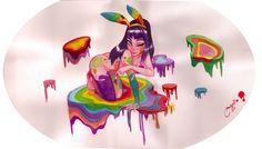 Rainbow patches by melissa ballesteros, via Behance