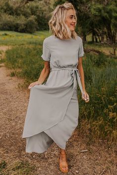 Taylor Jane Wrap Maxi - 682 x 1023 Lovable Bridesmaid Clothes - Modest Maxi Clothes Beautiful Bridesmaid Dresses, Modest Bridesmaid Dresses, Stunning Dresses, Awesome Dresses, Bridesmaid Hair, Elegant Dresses, Boho Wedding Guest Dress, Simple Summer Dresses, Dresses To Wear To A Wedding