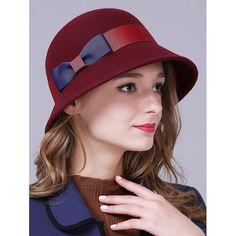 8d3a54c6da4 Female Cloche Hat Wide Brim Australian Wool Bucket Hat Keep Warm Wool Felt  Hat for Autumn Winter Check it out!