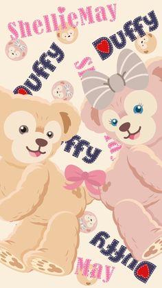 Sanrio Wallpaper, Disney Phone Wallpaper, Friends Wallpaper, Bear Wallpaper, Cute Anime Wallpaper, Cartoon Wallpaper, Iphone Wallpaper, Duffy The Disney Bear, Simple Wallpapers