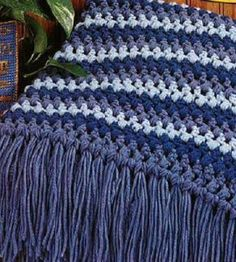Puff-Striped Afghan   Crocheting Crafts   Crafts for the Home — Country Woman Magazine