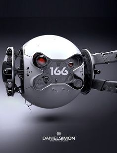 The clean yet intimidating Drone from the movie 'Oblivion'. Concept design by Daniel Simon.