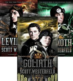 """Leviathan trilogy - This series has a similar premise to the Bloody Jack Series, but I feel that Deryn 's character is a stronger, more morally grounded one than Mary """"Bloody Jack """" Farber.  Loved the historical fiction/sci-fi blend. The authors explains, after the conclusion, what was fact and what was fiction."""