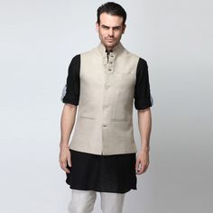 Nehru Jackets: It provides the easiest and the most elegant solution to formal dressing by doing away with the shirt and tie. You can wear them with denims and just a plain shirt .